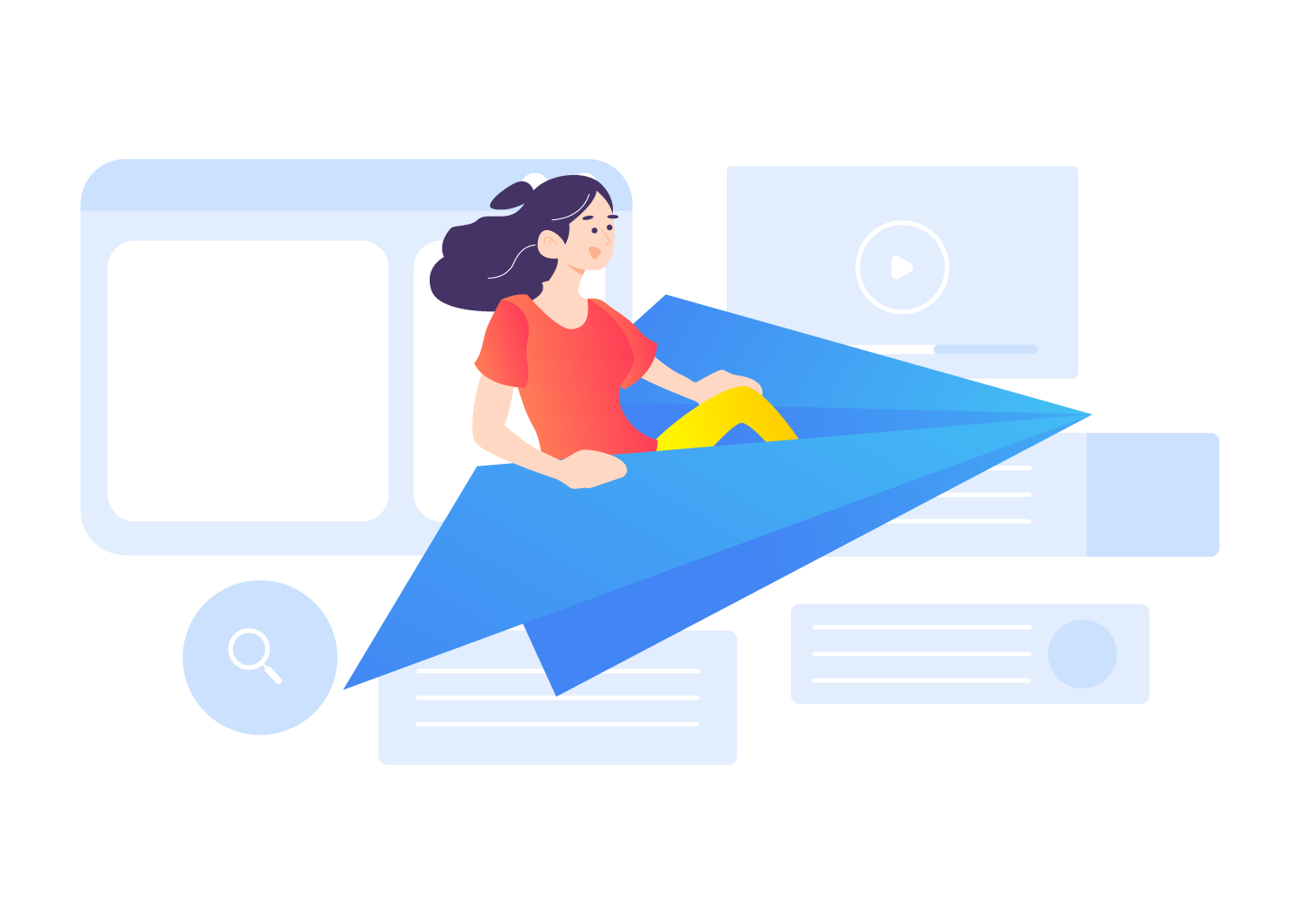 SEO-unlimited-Illustration-Launch-Product