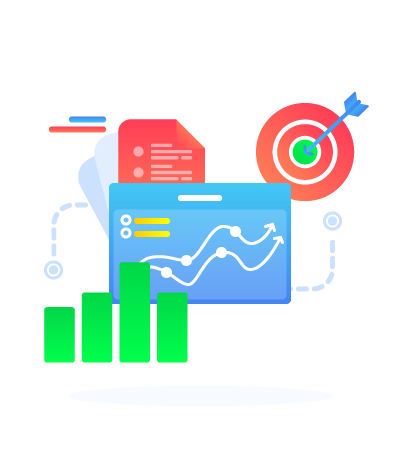 SEO-unlimited-Services-Illustration-Keyword-Graph-Charts