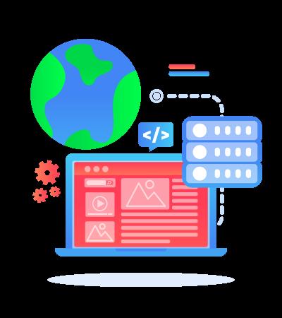 SEO-unlimited-Services-Illustration-Web-Design-Development